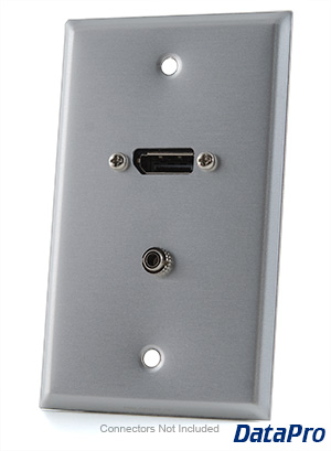 DisplayPort and Stereo Audio Wall-Plate