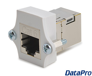 Shielded Panel-Mount Cat6 RJ45 Coupler F/F