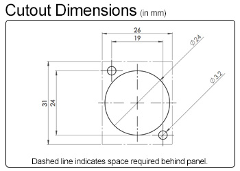 Neutrik Cutout Dimensions