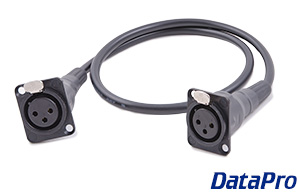 Dual Panel Mount Neutrik XLR Cable F-F