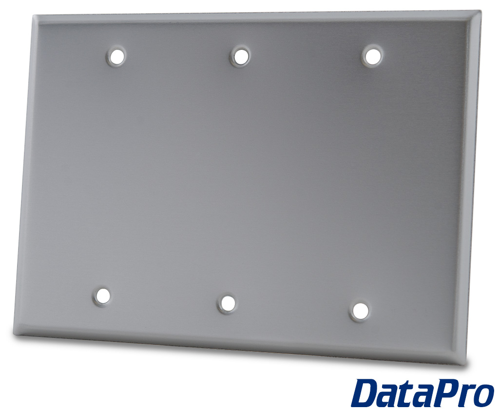 Blank 3 Gang Wall Plate Datapro