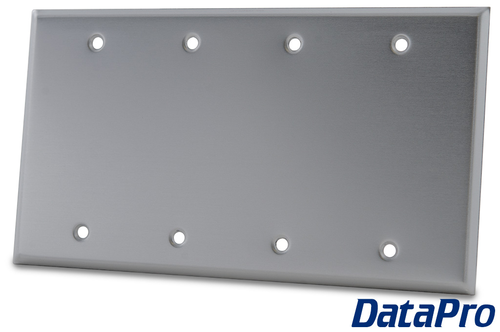 Blank 4 gang wall plate datapro for Four blank walls