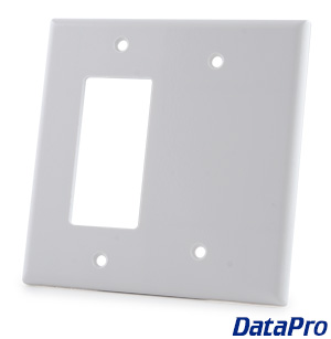 2 Gang Decora + Blank Wall Plate