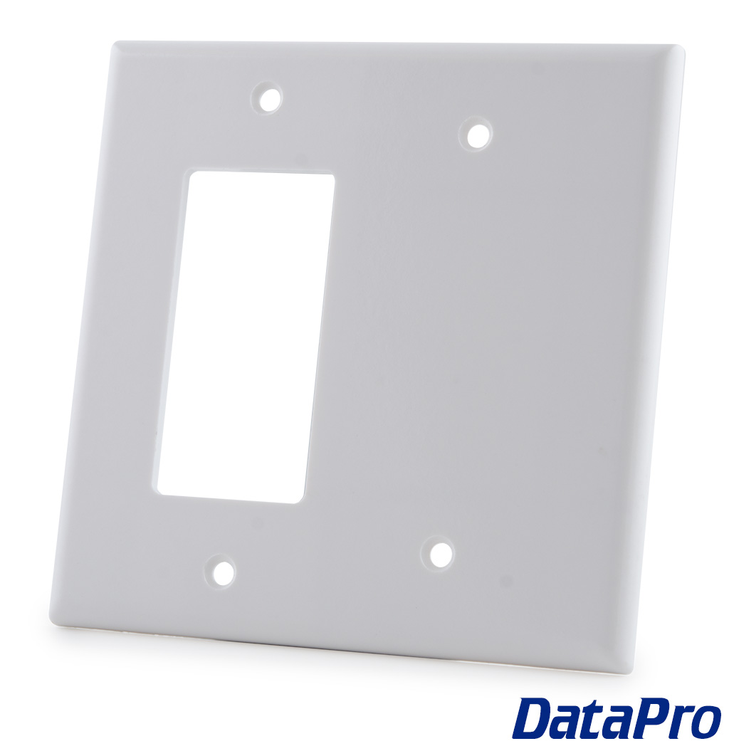 Blank Switch Plate Entrancing 2 Gang Decora  Blank Wall Plate  Datapro Review