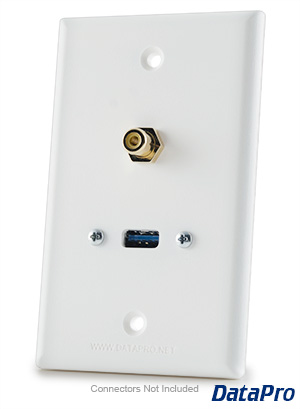 USB and RCA Wall Plate