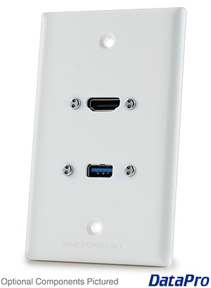 HDMI and USB Wall Plate