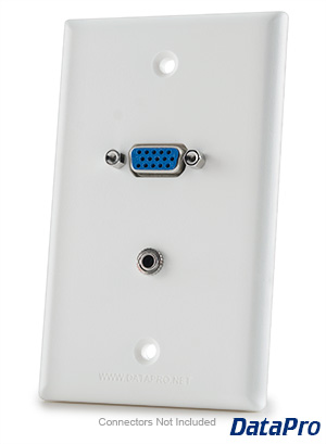 VGA & 3.5mm Stereo Wall Plate