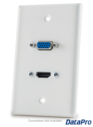 HDMI and VGA Wall-Plate