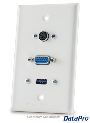 VGA & USB & PS2 Wall Plate