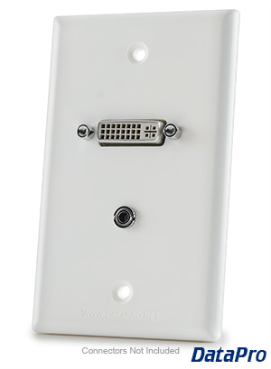 DVI and 3.5mm Audio Wall-Plate