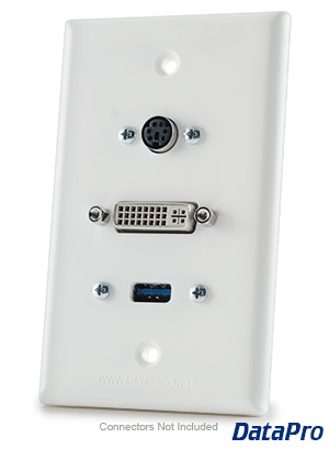 DVI & USB & PS2 Wall Plate