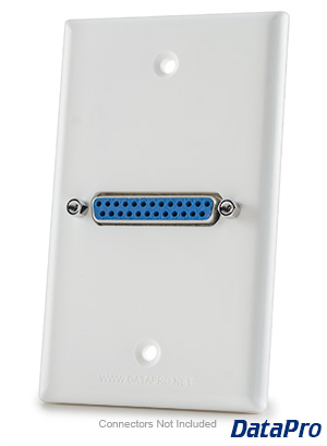 DB25 Parallel Wall Plate