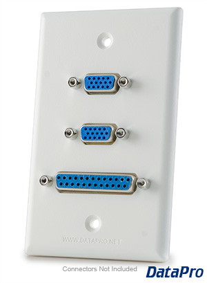 Wall-Plate with VGA, DB9, and DB25