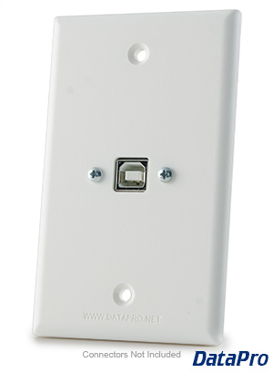 USB-B Type Wall Plate