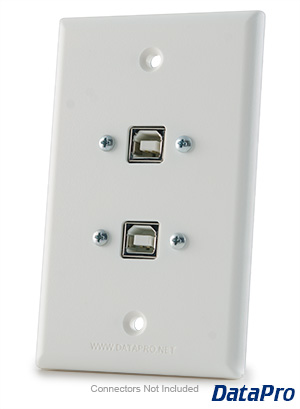 USB-B Type Dual Wall Plate