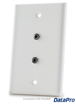 3.5mm Dual Stereo Audio Wall Plate