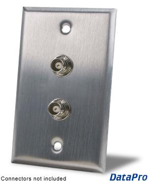 Dual Bnc Wall Plate Datapro
