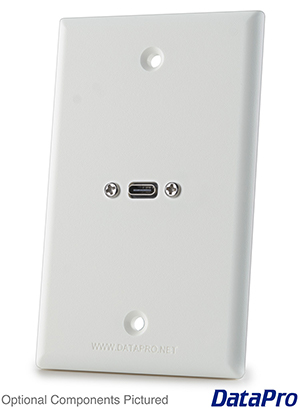 USB-C Wall Plate Single