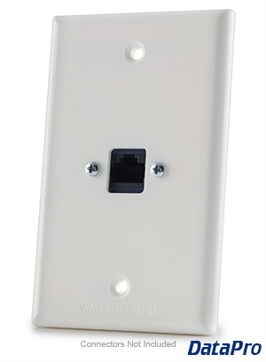 RJ45 Ethernet Cat-5e/Cat-6 Wall Plate