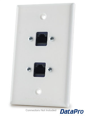 Dual RJ45 Ethernet Cat-5e/Cat-6 Wall Plate