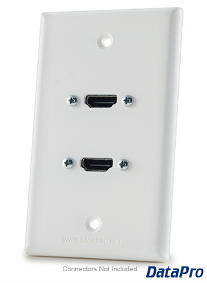 dual hdmi wall plate datapro
