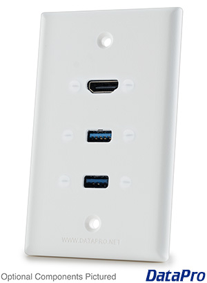 HDMI and 2x USB Wall Plate