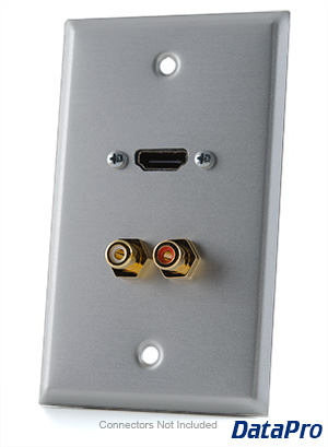 HDMI and Stereo RCA Audio Wall-Plate