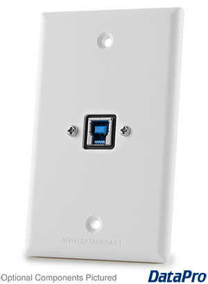 USB Type-B 3.0 Wall Plate