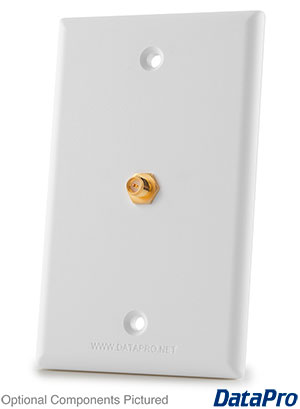 SMA or RP-SMA Cable-Compatible Wall Plate