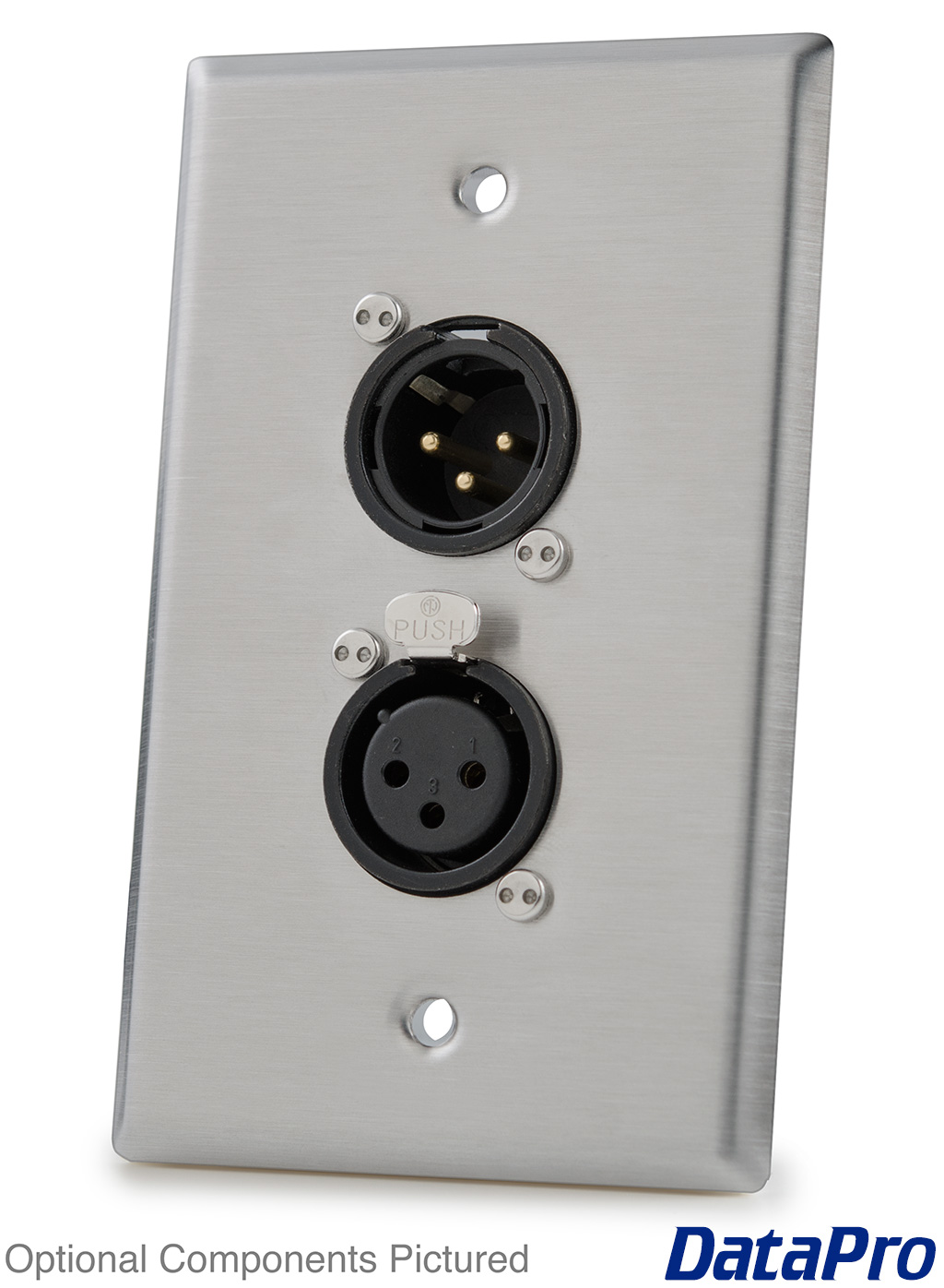 Wall Plate With Dual Neutrik Xlr Datapro