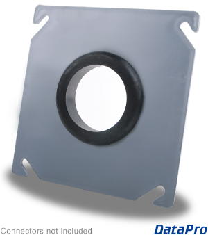 Industrial 4x4 Square Plate with Grommet Hole