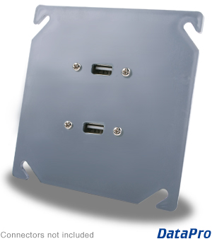 Dual USB Industrial Wall-Plate