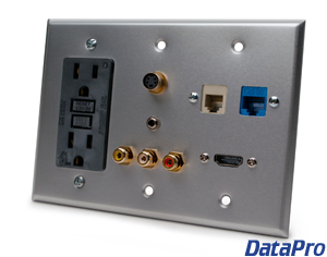 DataPro all-in-one media panel with GFI