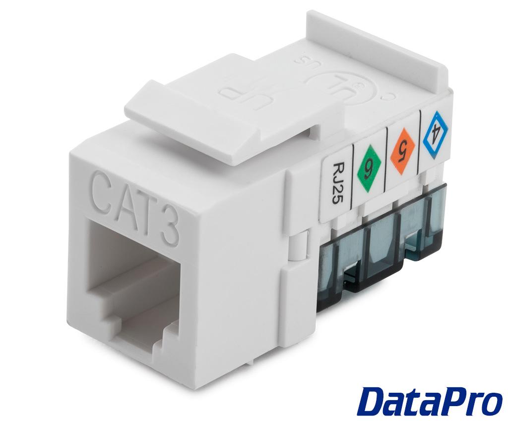 Keystone Rj11 Rj12 Punchdown Telephone Jack Datapro Rj25 Wiring Diagram For Connector