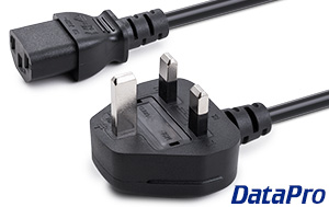 PC Power Cord (UK) With Fuse