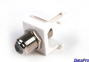 Keystone F-Type Coax (TV Cable) Coupler