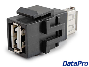 USB 2.0 Type A Keystone Coupler Female/Female