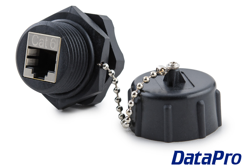 Rugged Ip67 Panel Mount Cat6 Ethernet Coupler Datapro