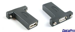 Panel-Mount USB-A 2.0 Coupler (Non-Flex)