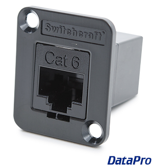 Switchcraft XLR-mount Cat6 coupler F/F