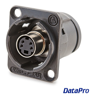 Switchcraft XLR-mount S-Video coupler F/F