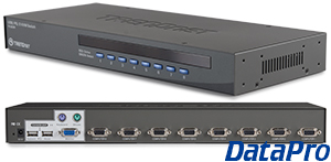 Rack Mount VGA PS2 and USB Switch: 8 CPU