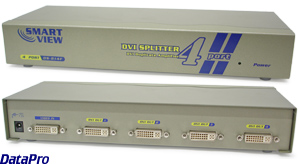 DVI 4-Way Video Splitter/Booster