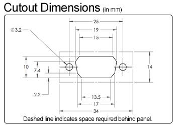 Db9 Serial Panel Mount Female Extension Datapro