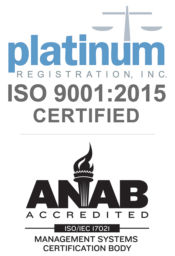 ISO Certified by Platnium Registration - ANAB Accredited