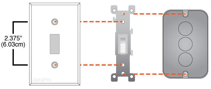 Gang Plate Device or Light Switch Mount